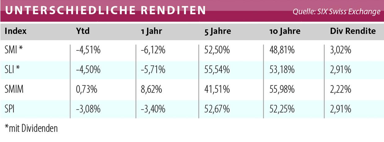 SMI Index im Vergleich